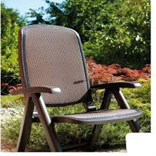 outdoor reclining chair brown fabric