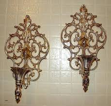 mirrored candle sconce silver
