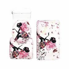 amagical flower fairy girl with erfly 3 piece bathroom mat set bathroom mat contour mat toilet cover colorful
