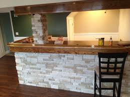 homemade man cave bar. My Homemade Basement Bar So Far With AirStone From Lowe\u0027s. Man Cave I