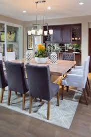 dining room wine bar built in buffet square dining table