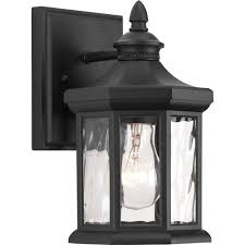 progress lighting edition collection 1 light 5 5 inch black outdoor wall lantern