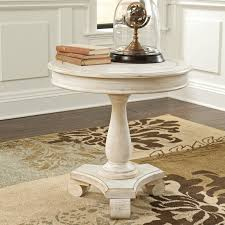 signature design by ashley cottage accents white round accent table com