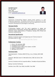 Elegant Abroad Resume Format Job Latter