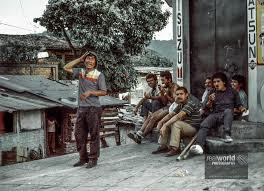 In the hood. San Salvador, El Salvador, Central America. 1992.