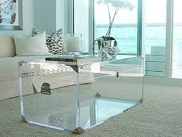 ... Rectangle Box Transparent Plexiglass Coffee Table Angular Gloss  Tailored Antique Furnishings Acrylic Innerspace Clear ...