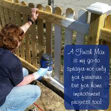 paint sprayer for furnitureHow to Stain or Paint a Fence by My Repurposed Life  HomeRight