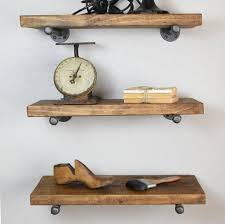 set of 3 9 1 4 deep floating shelves with industrial