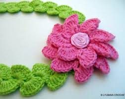 Crochet Flower Pattern For Headband Simple Crochet Flower Headband PATTERN Baby Headband Pattern Spring Etsy