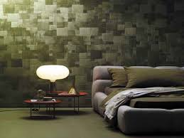 stunning modern bedroom design with leather wallpaper decoration picture  for bedroom.