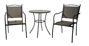 3 Piece Outdoor Patio Furniture Set 2 Chairs and Table ly
