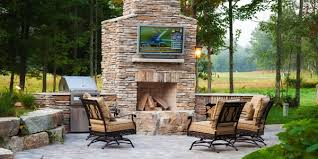 Paver Patio Designs With Fireplace Home Design and Architecture