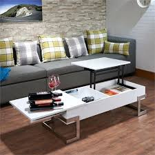 acme coffee table acme lift top coffee table in white and chrome acme 83000 vendome traditional acme coffee table