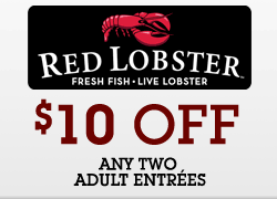Red Lobster Coupon 10 00 2 Adult Entrees Ftm