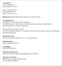Resume For Seniors Senior Resume Examples High School Senior Resume Awesome College Resume Examples For High School Seniors