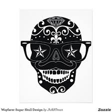 Design A Sugar Skull Online Wayfarer Sugar Skull Design Letterhead Zazzle Sugar