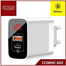 <b>Baseus</b> Mirror Lake <b>PPS</b> Digital Display quick Charger A+C EU ...
