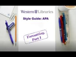 Apa Style Guide Formatting I Title Pages Margins And Fonts