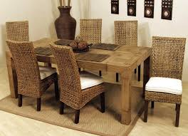Dining Room Cheap Wicker Rattan Dining Chairs Set 6 In High