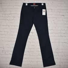 Dickies Juniors Size Chart Dickies Girl Juniors 5 Pocket Straight Leg Pant Nwt