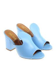 Light Blue Mules Light Blue Nappa Mules
