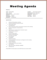 7 Free Meeting Agenda Templates Bookletemplate Org