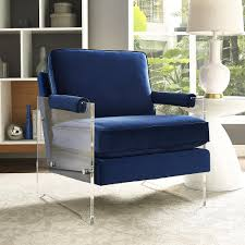 modern accent chairs. Royale Blue Velvet Modern Accent Chairs I