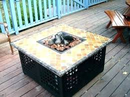 round gas fire pit table best small gas fire pits table top propane pit rectangular patio