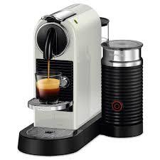 Nespresso U Machine Nespresso Citiz And Milk White Frother And Espresso Machine