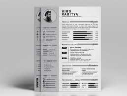 Free Resume Cv Design Template With Cover Letter Portfolio In