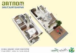 home plans 3d 2 bhk awesome modern row house plans modern house plans architecture plan 2