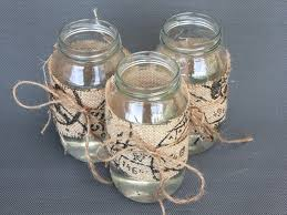 Decorating Ideas For Glass Jars Diy Centrepiece Ideas Glass Jars Decorated With Burlap How To 21