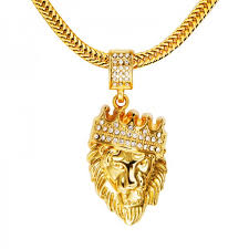 mens39 hip hop jewelry iced out gold plated fashion bling bling lion head pendant men necklace gold 32500150278 1488 600x600 jpeg
