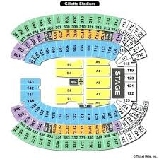 Gillette Seating Chart With Rows Gillette Stadium Seating Map Shirmin Info