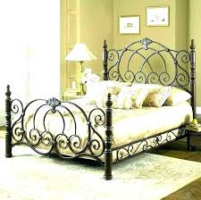 Antique Wrought Iron Bed Frame Queen And Wood King Without Footboard ...
