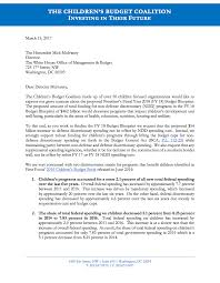 Letter to OMB Director Mick Mulvaney ...
