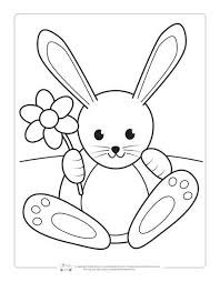 Top 15 bunny coloring pages for preschoolers: Printable Easter Coloring Pages For Kids Itsybitsyfun Com