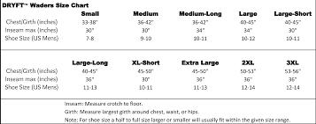 Mens Waders Size Chart Abiding Fishing Wader Size Chart Advice On Wading And Waders