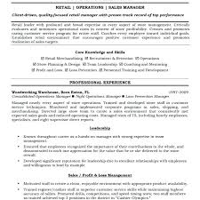 Store Manager Job Description Resume Resume Store Manager Examples ...