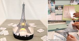 diy 3d eiffel tower made with cardstock