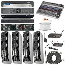 sound system kit. church sound system - complete audio kit / pa for 400 people m