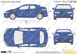 The Blueprints Com Vector Drawing Honda Civic 5 Door