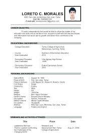High School Graduate Resume Gorgeous High School Graduate Resume Examples Basic Template For Admin
