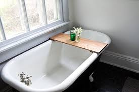 Oak Wooden Bathtub Tray - Honey Caddy Natural Wooden Bath Tub Shelf Desk  Board Handmade