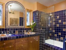new mexico home decor: mexican tile bathroom home design ideas pictures remodel and decor