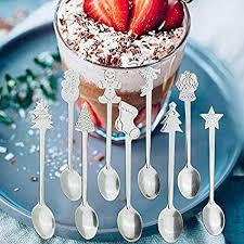 Buy 3nh 2pcs Random <b>Christmas Stainless Steel Spoon</b> Dessert ...