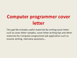 Computer Programmer Cover Letter