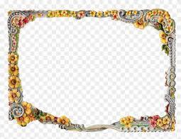 printable flower frame digital crafting fl flower frame border design png 360275