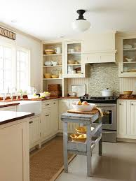 View In Gallery Small Kitchen With A Traditional Interior And The Island As  A Focal Point View ...