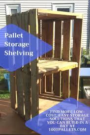 quick storage solution work pallet shelving